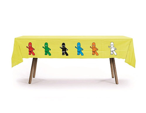 Ninjago Lego Plastic Table Cover with Stickers - 140 cm x 275cm