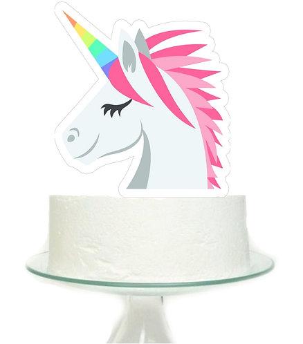 Unicorn Head Big Topper for Cake - 1 pcs set