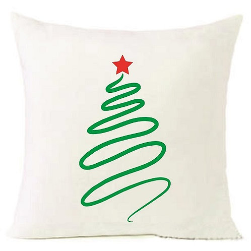 Christmas Tree Cushion Decorative Pillow COTTON OR LINEN -40cm