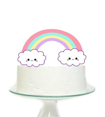 Clouds Big Topper for Cake - 1 pcs set