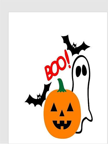 BOO Halloween Congratulation Card