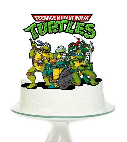 Ninja Turtles Big Topper for Cake - sets 1 pcs set