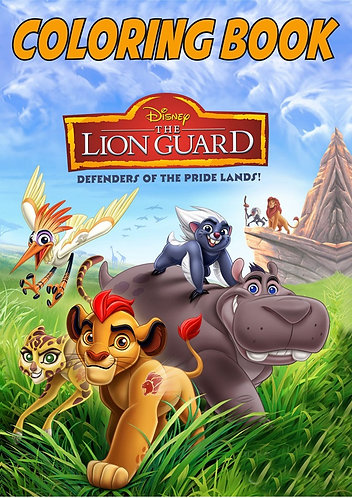 Lion King Lion Guard Small Coloring Book