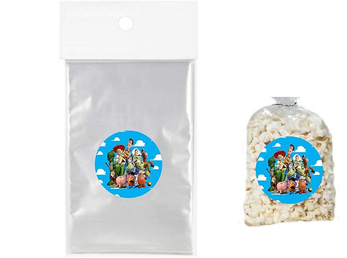 Toy Story Giveaways Clear Bags for Popcorn or Candies - 12 pcs set