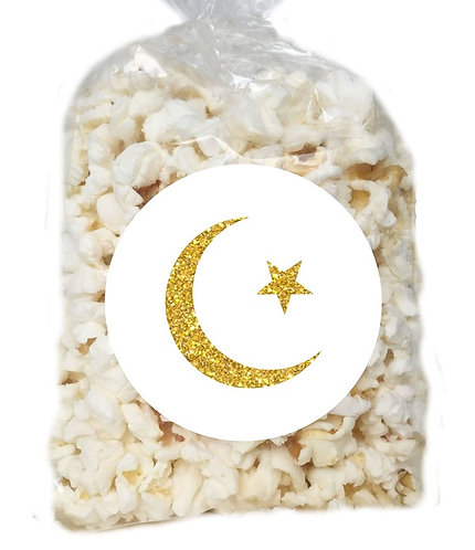 Ramadan EID Giveaways Clear Bags for Popcorn or Candies - 12 pcs set