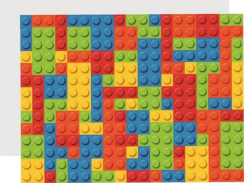 Lego Blocks Invitations - 6pcs party invites