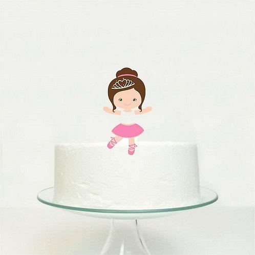 Cute Ballerina Girl Big Topper for Cake - 1 pcs set
