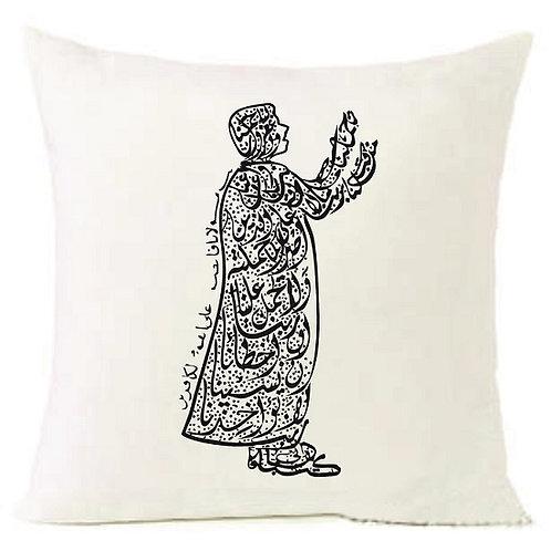 Arabic Letters ASK ALLAH Cushion Decorative Pillow COTTON OR LINEN - 40