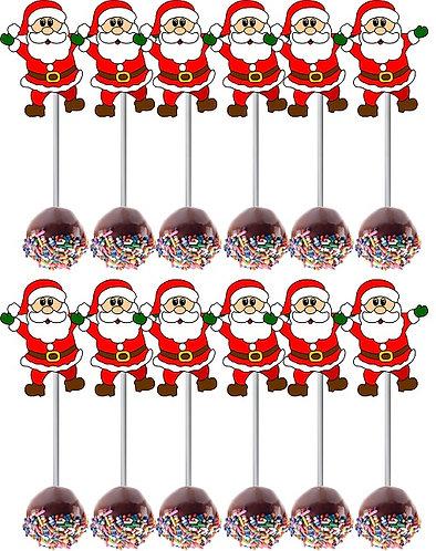 CHRISTMAS Santa Cake Pops Toppers - 12 pcs set