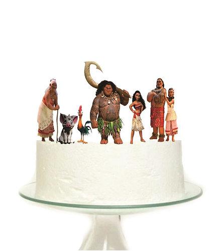Moana Characters Big Topper for Cake - 7 pcs set