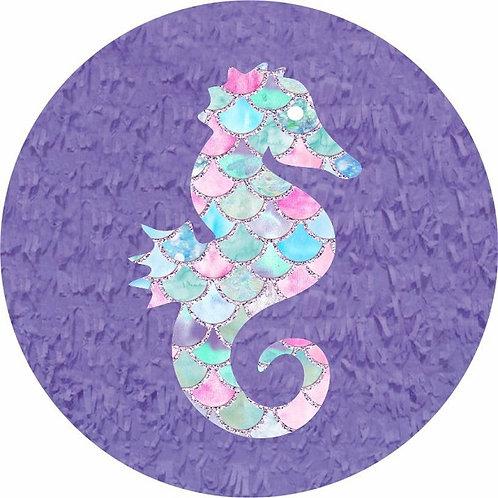 Mermaid Sea Horse Birthday Party Pull Strings Pinata - 35 cm