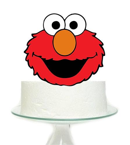 Sesame Street Elmo Head Big Topper for Cake - 1 pcs set