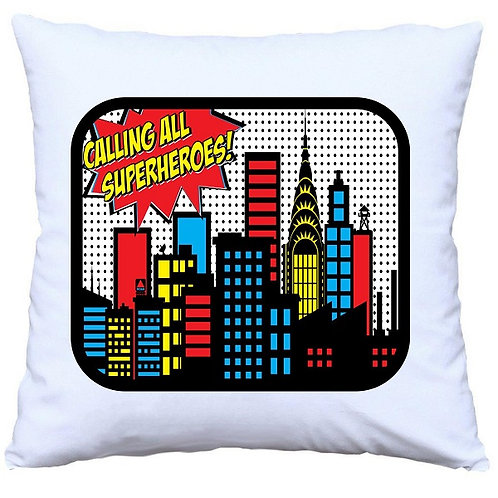 Calling All Superheroes Cushion Decorative Pillow - 40cm