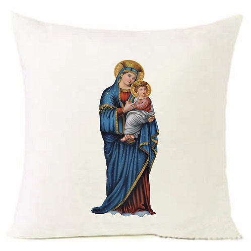 Christmas Virgen Mary Baby Jesus Cushion Decorative Pillow COTTON OR LINEN -40cm