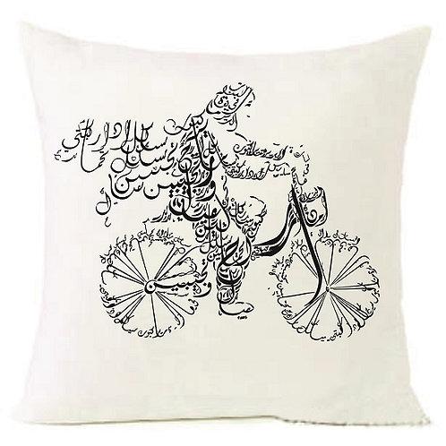 Arabic Letters BIKE Cushion Decorative Pillow COTTON OR LINEN - 40
