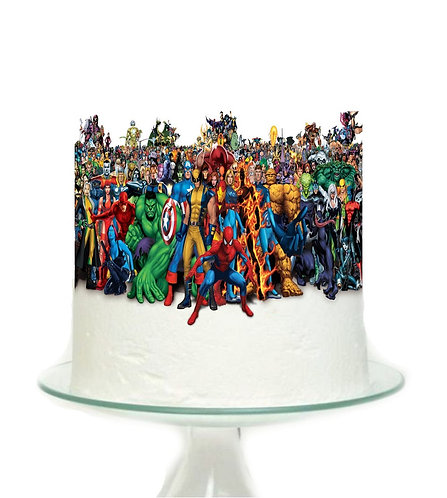 Avengers Marvel Superheroes Big Topper for Cake - 1pcs set