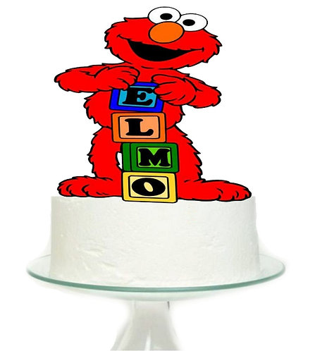 Sesame Street Elmo Blocks Big Topper for Cake - 1 pcs set