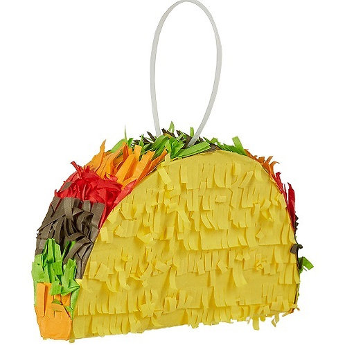 Mexican Taco Birthday Party Pull Strings Pinata - 40 cm