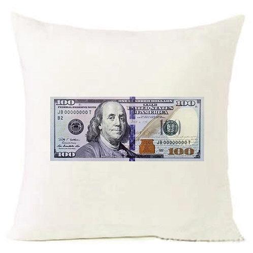 100 Dollar Money Cushion Decorative Pillow - 40cm