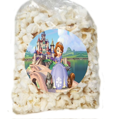 Princess Sofia the First Giveaways Clear Bags for Popcorn or Candies -12 pcs set