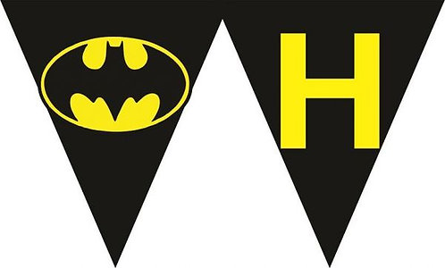 Batman Logo HAPPY BIRTHDAY Banner