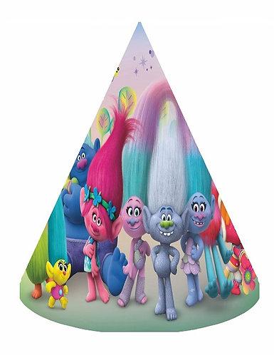 Trolls Party Hats - 12 pcs