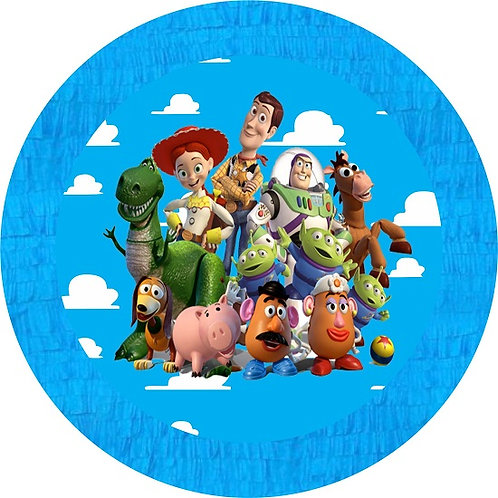 Toy Story Birthday Party Pull Strings Pinata Round - 35 cm