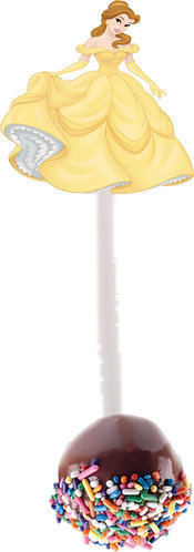 Princess Belle Beauty and the Beast Cakepops Toppers - 12 pcs set