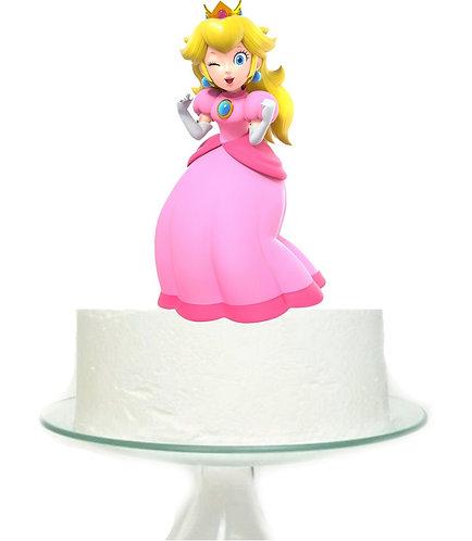 Mario Game Princess Big Topper for Cake - 1 pcs set