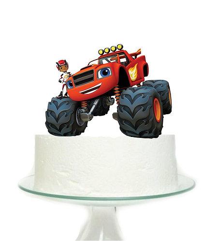 Monster Truck Blaze Big Topper for Cake - 1 pcs set
