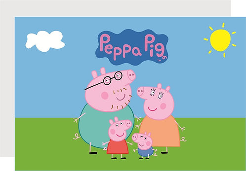 Peppa Pig Invitations - 6pcs party invites