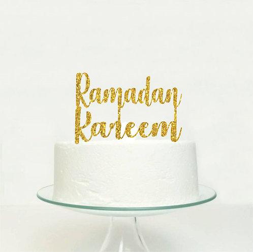 Ramadan Kareem EID Big Topper for Cake - 1 pcs set