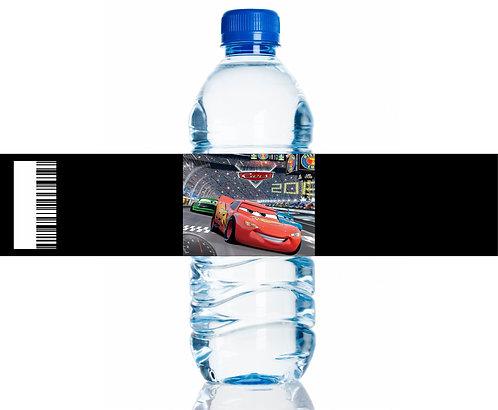 Cars Water Bottles Stickers - 6 pcs set