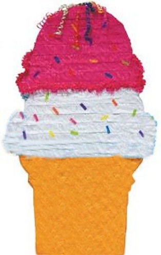 Ice Cream Birthday Party Pull Strings Pinata - 40 cm
