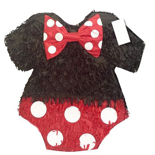 Minnie Onesie Party Pull Strings Pinata - 40cm