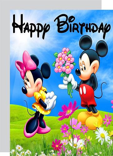Mickey Minnie HAPPY BIRTHDAY Congratulation Card
