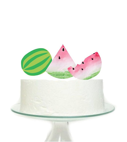 Watermelons Big Topper for Cake - 3 pcs set