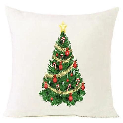 Christmas Tree Cushion Decorative Pillow COTTON OR LINEN - 40cm