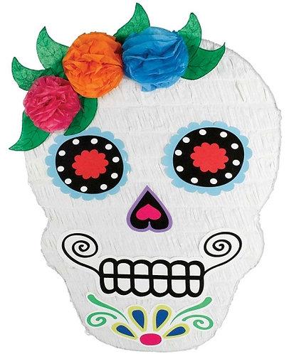 Mexican Dia De Los Muertos Skull Girl Halloween Party Pull Strings Pinata - 40cm