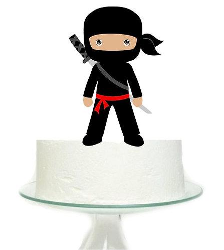 Ninja Boy Big Topper for Cake - sets 1 pcs set