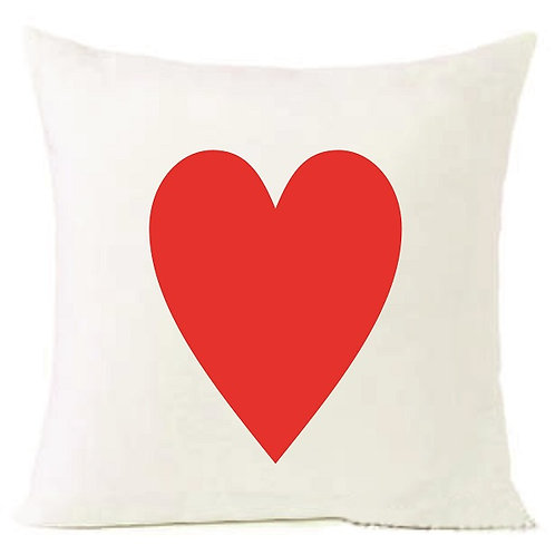Valentines Day Red Heart Cushion Decorative Pillow - 40cm