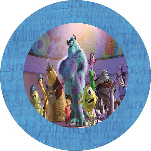 Monsters Inc Party Pull Strings Pinata - 35cm