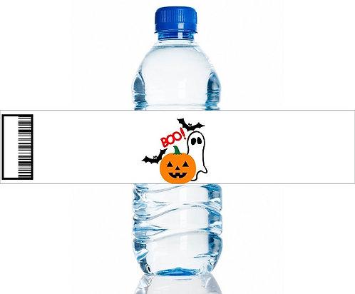 BOO! Halloween Water Bottles Stickers - 6 pcs set