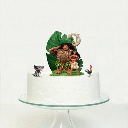 Moana Maui Big Topper for Cake - 3 pcs set