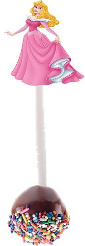 Princess Aurora Sleeping Beauty  Cakepops Toppers - 12 pcs set