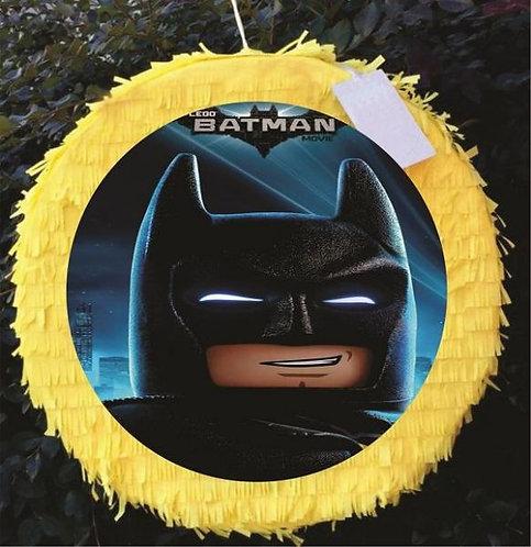 Batman Lego Birthday Party Pull Strings Pinata Round -35 cm
