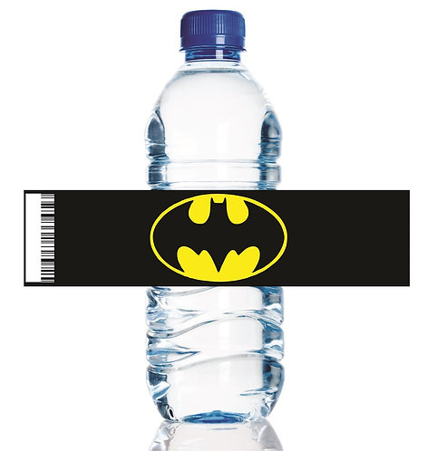 Batman Logo Water Bottles Stickers - 6 pcs set