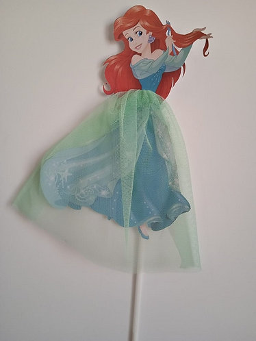 Princess Ariel Little Mermaid Big Topper for Cake - 1 pcs set