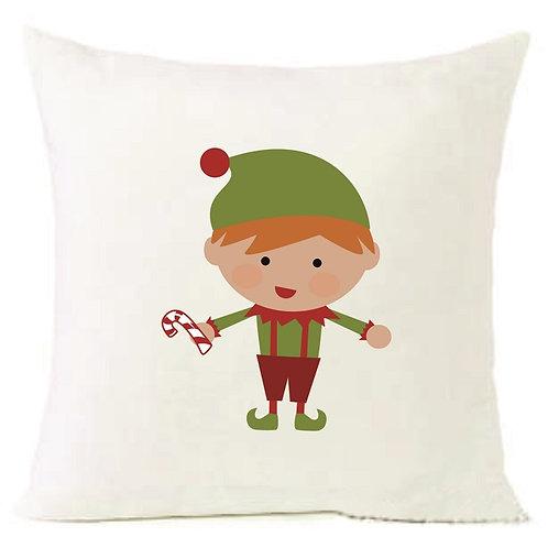 Christmas ELF BOY Cushion Decorative Pillow COTTON OR LINEN -40cm