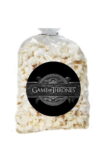 Game of Thrones Giveaways Clear Bags for Popcorn or Candies - 12 pc